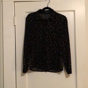 Nasty gal black/white stars button down